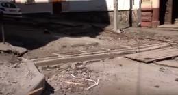 Який стан вулиці Хмельницького за місяць до обіцяного владою закінчення ремонту (відео)