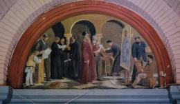 В центральному корпусі ЧНУ знайшли унікальну фреску