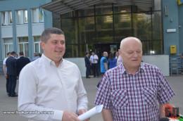 Нардепи Бурбак і Федорук на відкритті нового рейсу