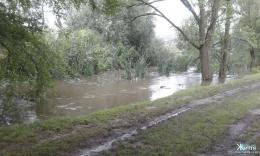 На Кіцманщині через потужні зливи підтопило домогосподарства (фото)