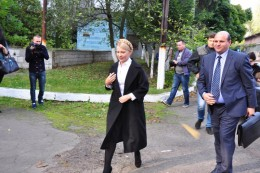 Юлія Тимошенко відвідала швейну фабрику у Чернівцях (фото)