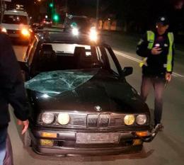 В Чернівцях «BMW» збив п'яного пішохода
