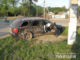 """На Буковині зіткнулись """"Ауді"""" та """"ВАЗ"""", загинув пасажир (фото)"""