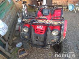 На Буковині у чоловіка викрали квадроцикл, який він залишив без нагляду