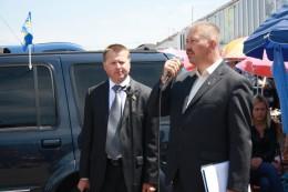 Віталій Мельничук на Калинівському ринку