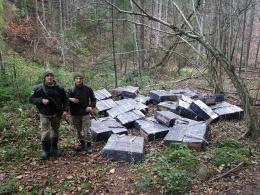 Неподалік Красноїльська, десять осіб за 20 метрів від кордону, покинули 46 ящиків сигарет і втекли