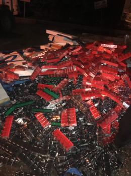 На Буковині службовий собака допоміг прикордонникам виявити контрабандні цигарки у вантажівці (фото)