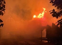 На Буковині виникла масштабна пожежа в ресторані санкційного бізнесмена Кушніра (фото)