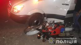 На Буковині водій мікроавтобуса зіткнувся з мотоциклістом (фото)