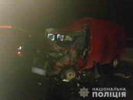 У Рідківцях через зітнення двох мікроавтобусів загинула 55-річна жінка