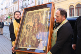 До Чернівців прибула чудотворна ікона Божої Матері Холмської