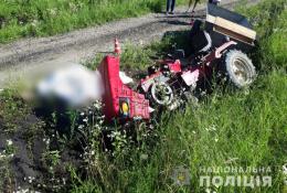 """На Буковині перекинувся мотоблок """"Force"""", водій загинув"""