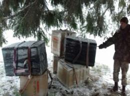 На Буковині прикордонники запобігли спробі переправи 20 ящиків сигарет