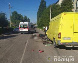 На Буковині мотоцикл врізався в мікроавтобус, загинув водій мотоцикла
