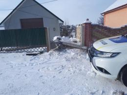 На Буковині водій збив електроопору та залишив половину міста без світла (фото)