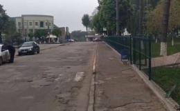 На Буковині водій зніс огорожу біля школи та зник з місця ДТП (відео)