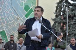 Міхеіл Саакашвілі на Центральній площі зустрівся з чернівчанами