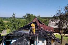 На Буковині під час гасіння пожежі травмувався чоловік