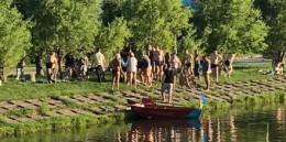 Чоловік, який потонув на озері в парку «Жовтневий», вдарився головою об бетонну дамбу