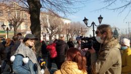 У центрі Чернівців мітингують підприємці Калинівського ринку