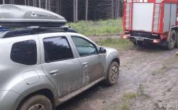 У Путильському районі на гірській дорозі автомобіль з'їхав у кювет