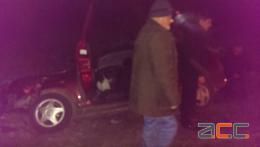 На Буковині автомобіль із чотирма пасажирами злетів у кювет (фото)