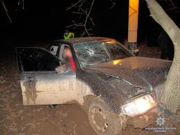"""На Буковині """"Мерседес"""" врізався у дерево, загинув пасажир (фото+відео)"""