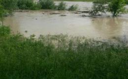 У Великому Кучурові місцева річка вийшла з берегів і підтопила прилеглі будинки (відео)
