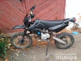 На Буковині поліцейські встановили 17-річного угонщика мотоцикла «Monster»