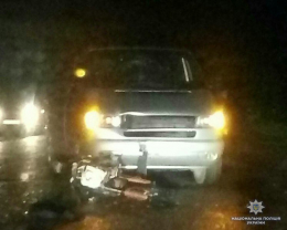 На Буковині зіткнулися «Volkswagen» із мотоциклом «Zongshen», є постраждалі