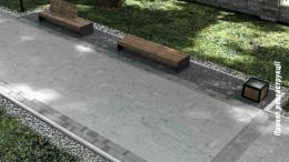 У сквері ЧНУ  планують оновити бруківку, лавиці та ліхтарі (фото)