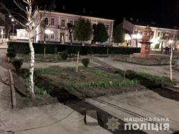 У Вижниці чоловік вкрав із площі 13 бордюрів (фото)