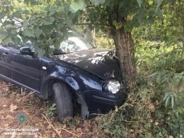 У Чернівцях поліція затримала п'яного водія, який врізався у дерево і збрехав, що авто вкрали