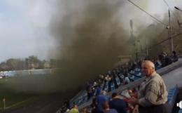 """У Чернівцях під час матчу, в якому """"Буковина"""" перемогла тернополян, запалили димову шашку (відео)"""