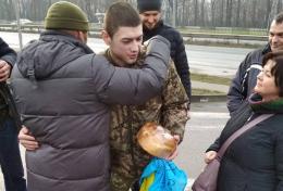В Чернівцях волонтери зустріли бійця Павла Юрбаша, який понад рік перебував у полоні на Донбасі