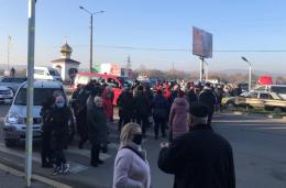 Підприємці перекривали дорогу біля Калинівського ринку