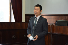 Представник посольства Японії прочитав лекцію у сесійній залі Ратуші