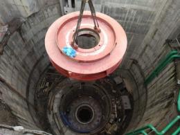 На Дністровській ГАЕС почали монтували 120-тонне робоче колесо