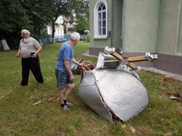 Буревій на Буковині зруйнував купол церкви (фото)