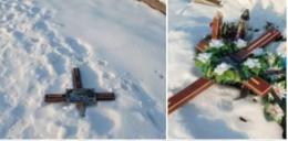 На Буковині вандали розтрощили могили на цвинтарі