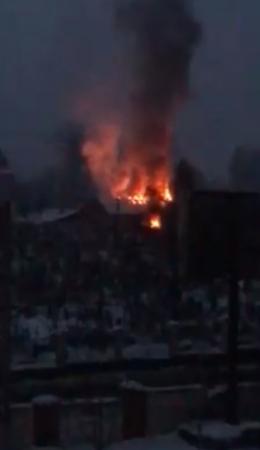 У Чернівцях на цвинтарі по Зеленій сталась пожежа (відео)