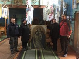 Чернівчанин придбав на блошиному ринку зниклу ікону та повернув її в храм на Львівщині (фото)