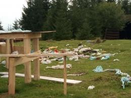 Дві підводи сміття вивезли з Томнатика після фестивалю (фото)