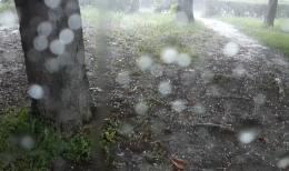 Сильна злива із градом наробили біди в місті на Буковині