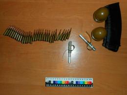 Дві гранати «РГД» і боєприпаси