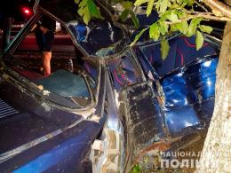 У селі Ставчани «Audi 80» зіткнувся з деревом