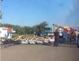 На Буковині поблизу «Порубного» загорілась вантажівка