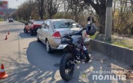 """У Чернівцях у ДТП поблизу """"Калинівського ринку"""" постраждав мотоцикліст"""