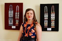 """У художньому музеї відкрилась виставка """"Прикраси з бісеру"""" Ольги Денисової (фото)"""