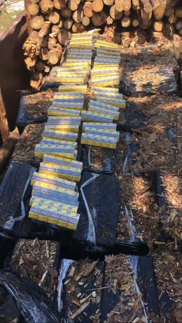 На Буковині під деревиною заховали 50 ящиків контрабандних сигарети (фото)